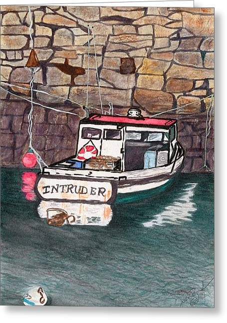 Nancy's Dirty Boat Greeting Card