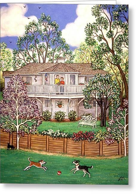 Nancy's House Greeting Card by Linda Mears