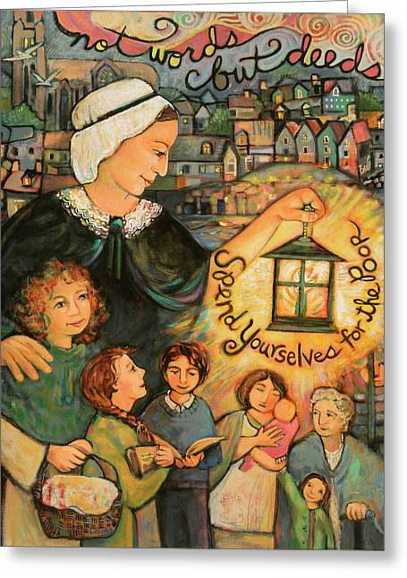 Nano Nagle, Foundress Of The Sisters Of The Presentation Greeting Card by Jen Norton