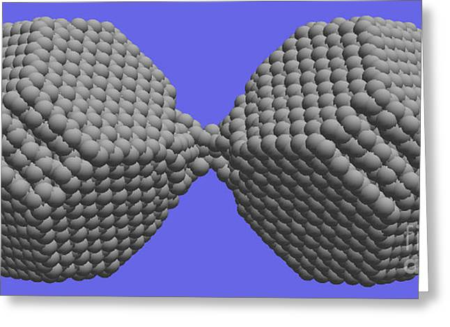 Nanoscale Ductility, 1 Of 2 Greeting Card by NIST/Science Source