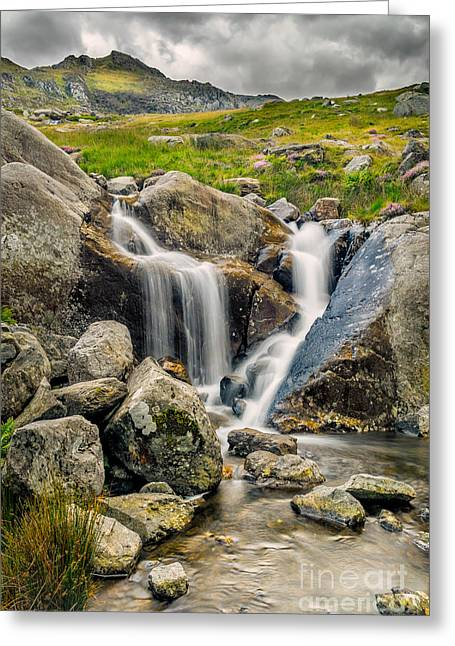 Nant Bochlwyd Waterfall Greeting Card