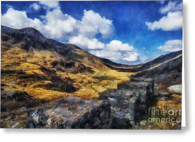 Nant Ffrancon Valley Greeting Card