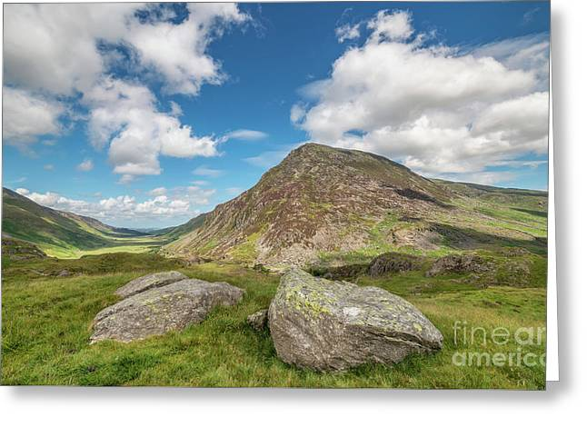 Nant Ffrancon Valley, Snowdonia Greeting Card by Adrian Evans