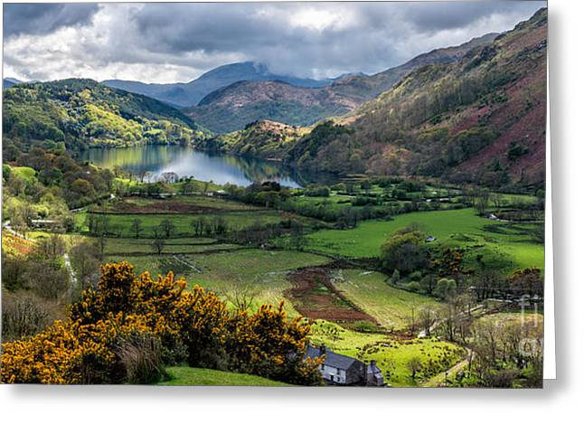 Nant Gwynant Valley Greeting Card by Adrian Evans