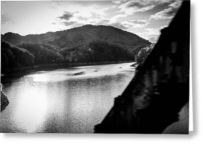 Nantahala River As Seen From The Great Smokey Mountain Railroad Greeting Card by Kelly Hazel