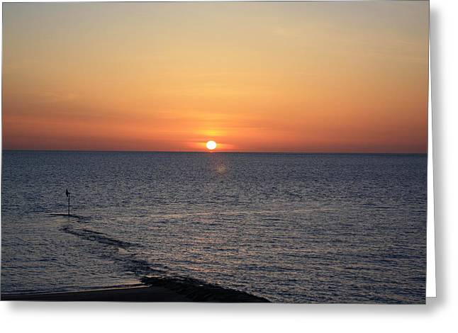 Greeting Card featuring the photograph Nantasket Sunrise II Hdr by Greg DeBeck