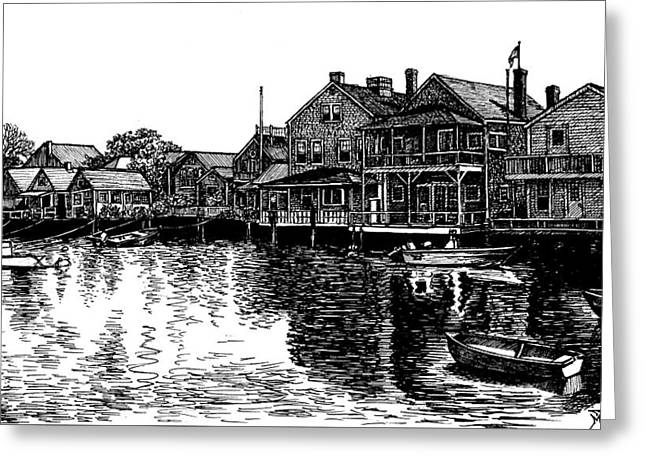 Nantucket Harbor Number Two Greeting Card