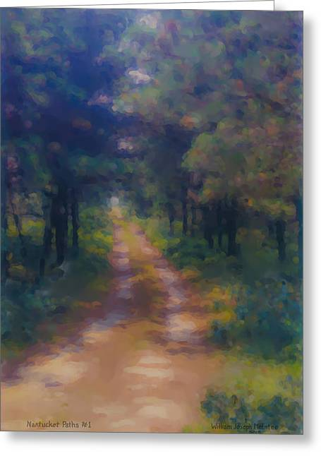 Nantucket Paths #1 Greeting Card