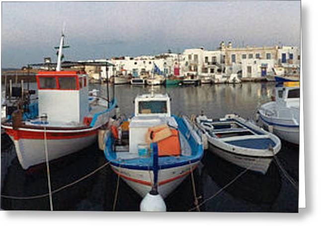Greeting Card featuring the photograph Naoussa Village Island Greece by Colette V Hera  Guggenheim
