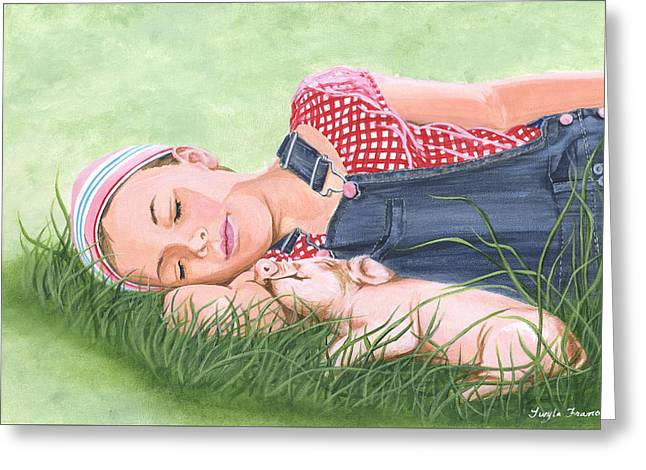 Nap Time Together Greeting Card