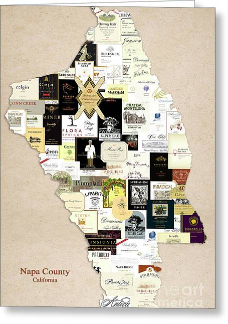 Napa County California Greeting Card