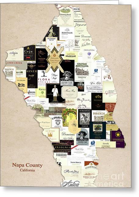 Napa County California Greeting Card