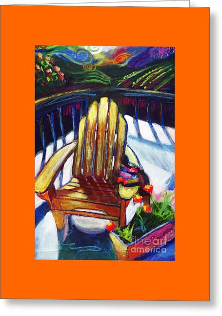 Napa California Deck Chair Greeting Card by Marcy  Orendorff