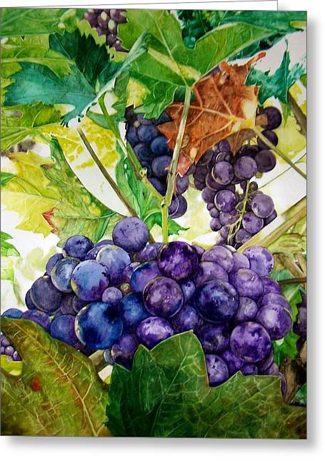 Greeting Card featuring the painting Napa Harvest by Lance Gebhardt