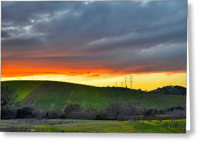 Napa Sunrise Greeting Card