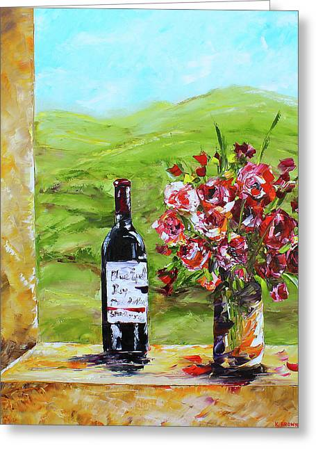 Napa Valley Greeting Card by Kevin Brown