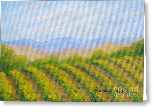 Napa Valley Vineyard Greeting Card by Jerome Stumphauzer