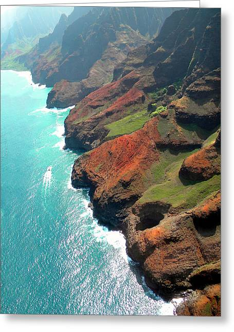Napali Coast Of Kauai Greeting Card by Frank Wilson