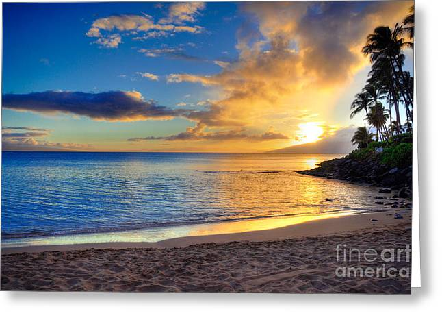Napili Bay Maui Greeting Card by Kelly Wade