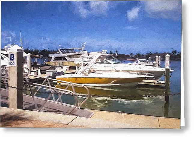 Naples Dock Greeting Card