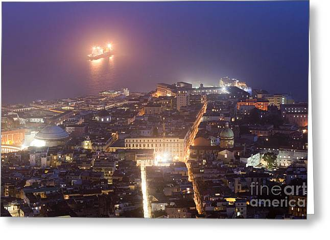Naples Greeting Card by Andre Goncalves