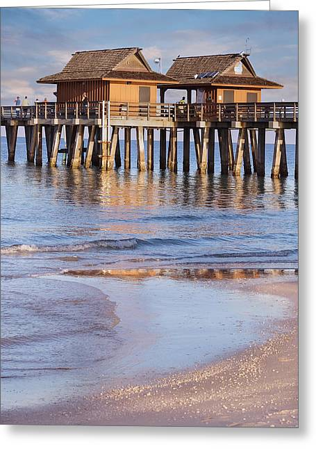 Naples Beach Pier Greeting Card