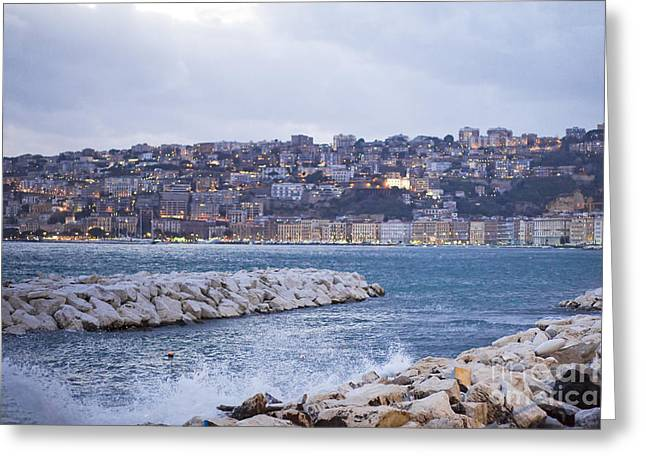 Naples Coast Greeting Card by Andre Goncalves