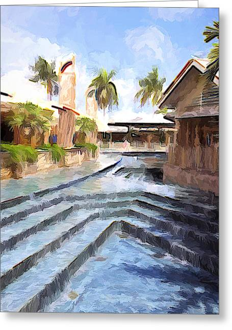 Naples Falls Shopping  Greeting Card