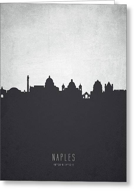 Naples Italy Cityscape 19 Greeting Card