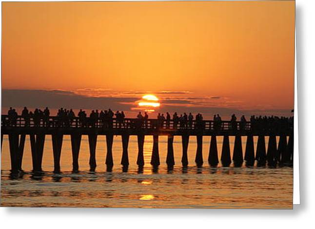 Naples Pier At Sunset Greeting Card