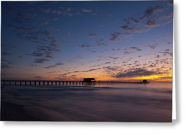 Naples Pier Magic Hour Greeting Card