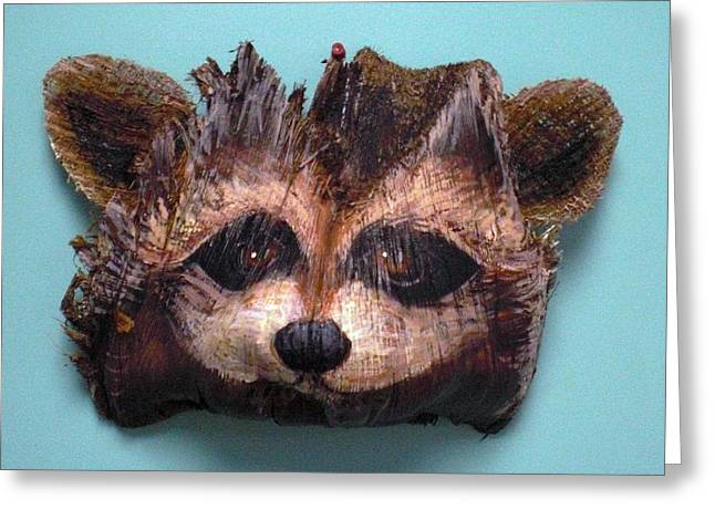 Naples Racoon Greeting Card