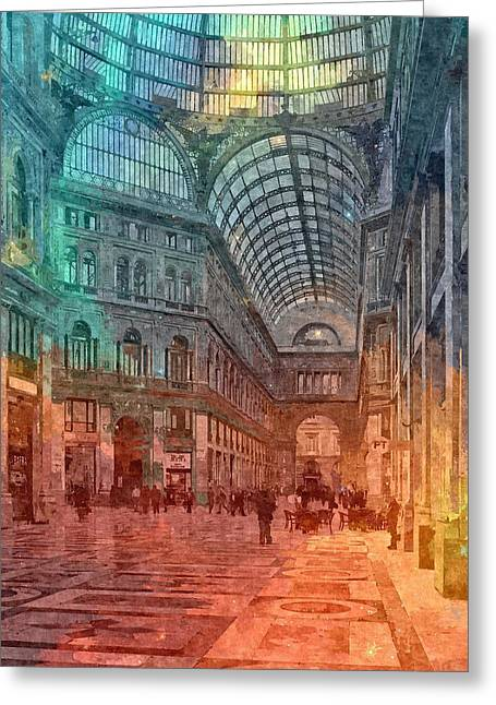 Naples , Italy Greeting Card by Nikolay Ivanov