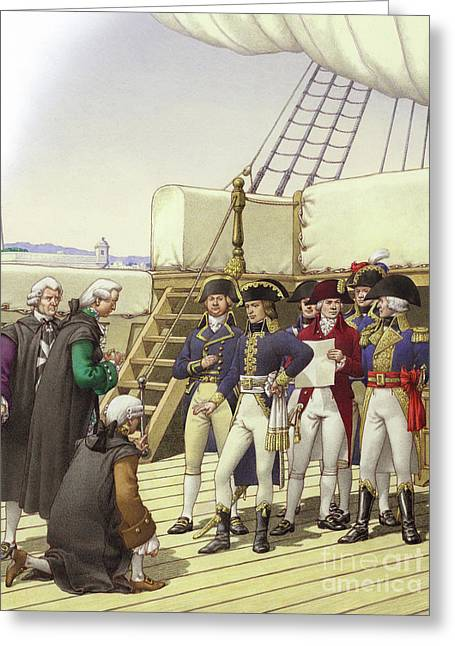 Napoleon Accepts The Surrender Of Malta Greeting Card