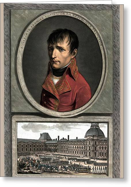 French Leaders Greeting Cards - Napoleon Bonaparte And Troop Review Greeting Card by War Is Hell Store