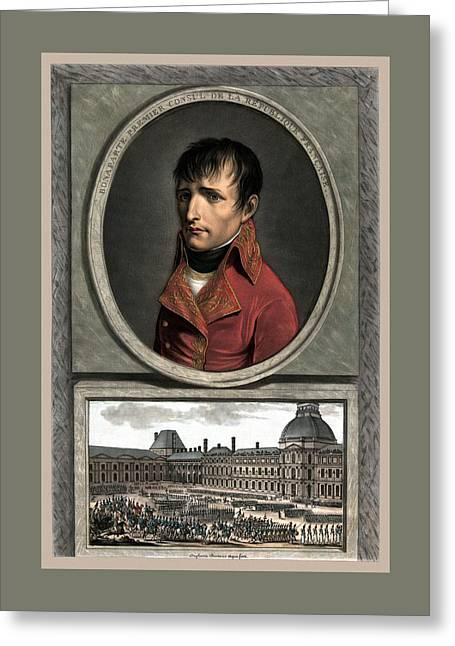Napoleon Bonaparte Greeting Cards - Napoleon Bonaparte And Troop Review Greeting Card by War Is Hell Store