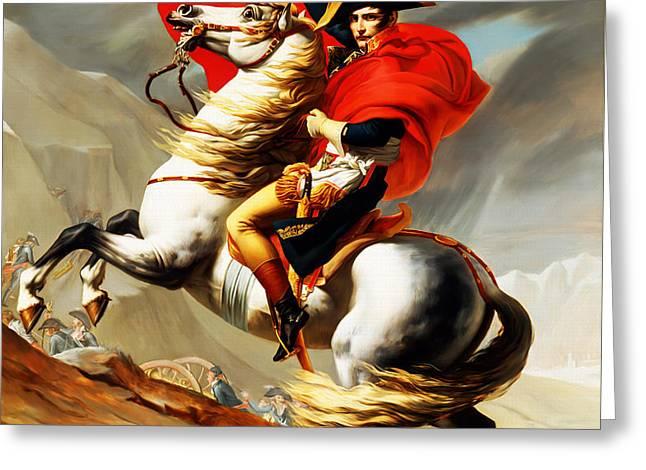 Napoleon Bonaparte On Horse Greeting Card