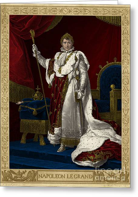 Napoleon I, Emperor Of France Greeting Card by Science Source