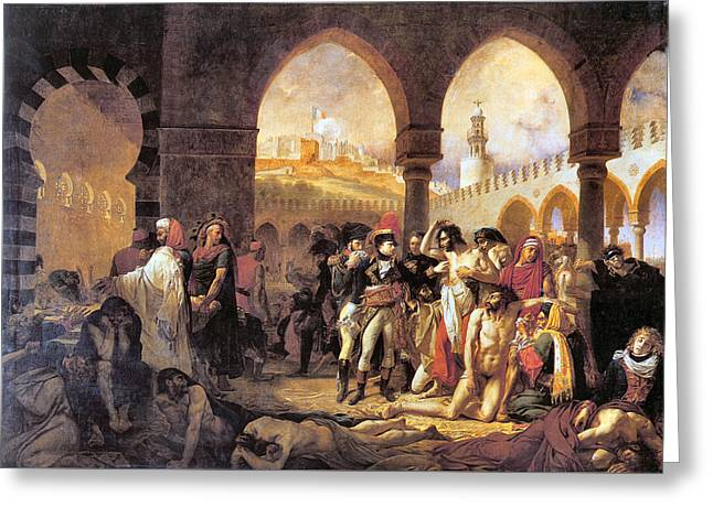 Napoleon In The Plague House Greeting Card by Antoine Jean Gros