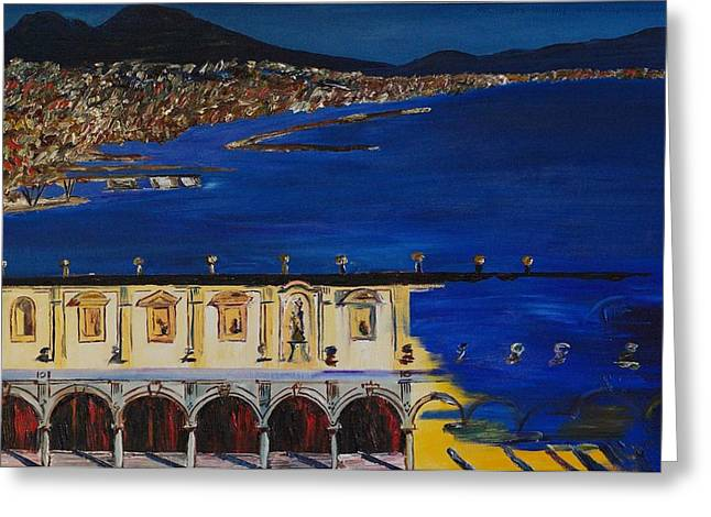 Napoli Greeting Card by Gregory Allen Page