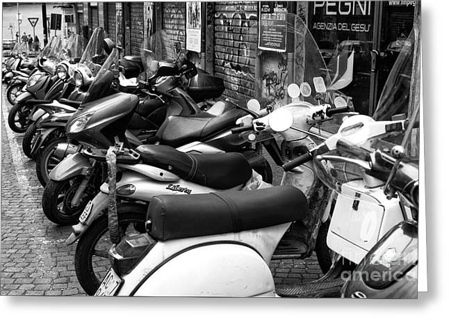 Napoli Scooter Choices Greeting Card by John Rizzuto
