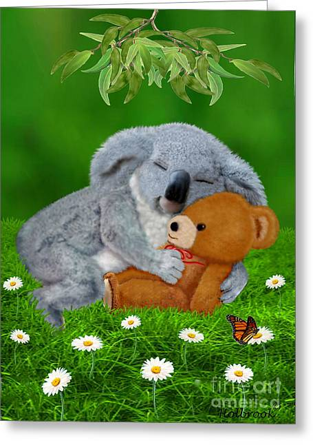 Naptime With Teddy Bear Greeting Card