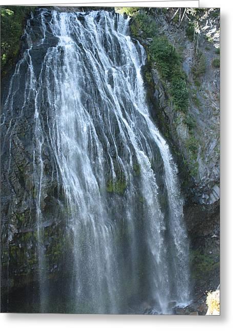 Narada Falls Greeting Card by Jessa Morissey