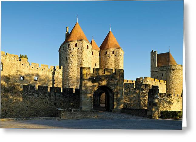 Narbonne Gate Carcasonne Greeting Card