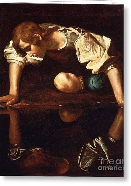 1596 Greeting Cards - Narcissus Greeting Card by Pg Reproductions