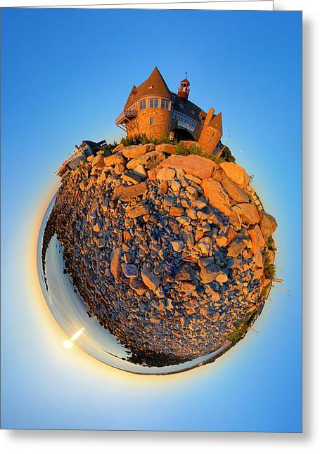 Tower Greeting Cards - Narraganset Towers 2- Planet Greeting Card by Christopher Blake