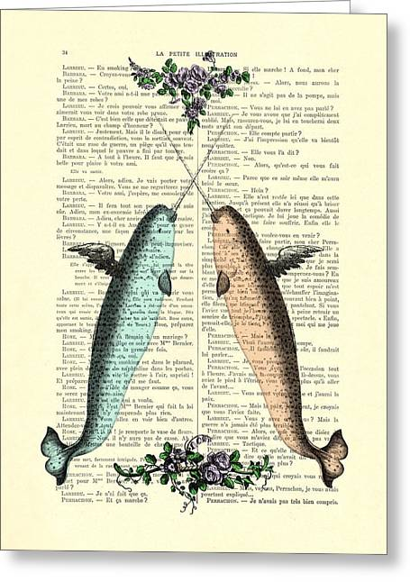Narwhals In Love Greeting Card