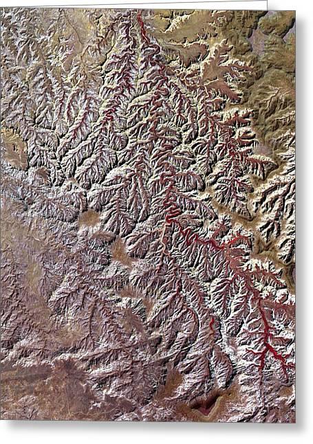 Nasa Image-canyonlands National Park, Utah-2 Greeting Card