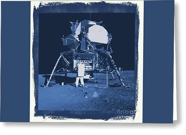 Nasa Lunar Lander Greeting Card by Raphael Terra