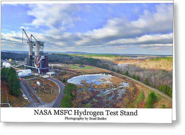 Nasa Msfc Hydrogen Test Stand - Original Greeting Card